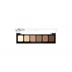 Korygująca i tuszująca paleta kamuflażu - Golden Rose -Correct&Conceal Camouflage Cream Palette - 02