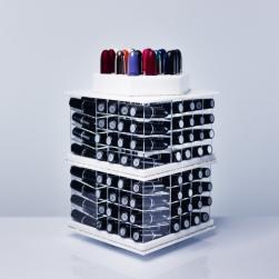 Profesjonalny stojak na 141  pomadkek od marki  USADDICTED -Mega  Spinning Lipstick Tower - White