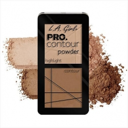 Zestaw do konturowania - L.A.Girl - PRO Contour Powder -Highlighter/Bronzer