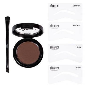 Zestaw do brwi - BPerfect Cosmetics - Semi-Permanent Brows - Chocolate