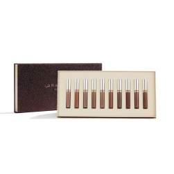 Zestaw szminek matowych Anastasia Beverly Hills - Liquid Lipstick 10-Piece Collection - Deep Neutrals