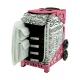 Kufer na kółkach ZÜCA Sport Artist - Zebra/Pink Frame Flashing Wheelset