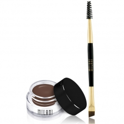 Pomada do brwi + pędzelek Milani Stay Put Brow - Dark Brown
