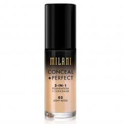 Podkład /korektor 2w1 Milani  - Concelar + Perfect  2in1 - Light Beige