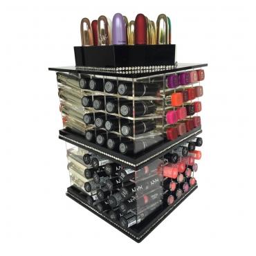 Organizer na pomadki  USADDICTED - Mega Spinning Lipstick Tower - Black