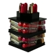 Organizer na pomadki  USADDICTED - Mini Spinning Lipstick Tower -  Black