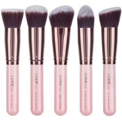 Zestaw pędzli Luxie - Rose Gold - Synthetic Kabuki Brush Set