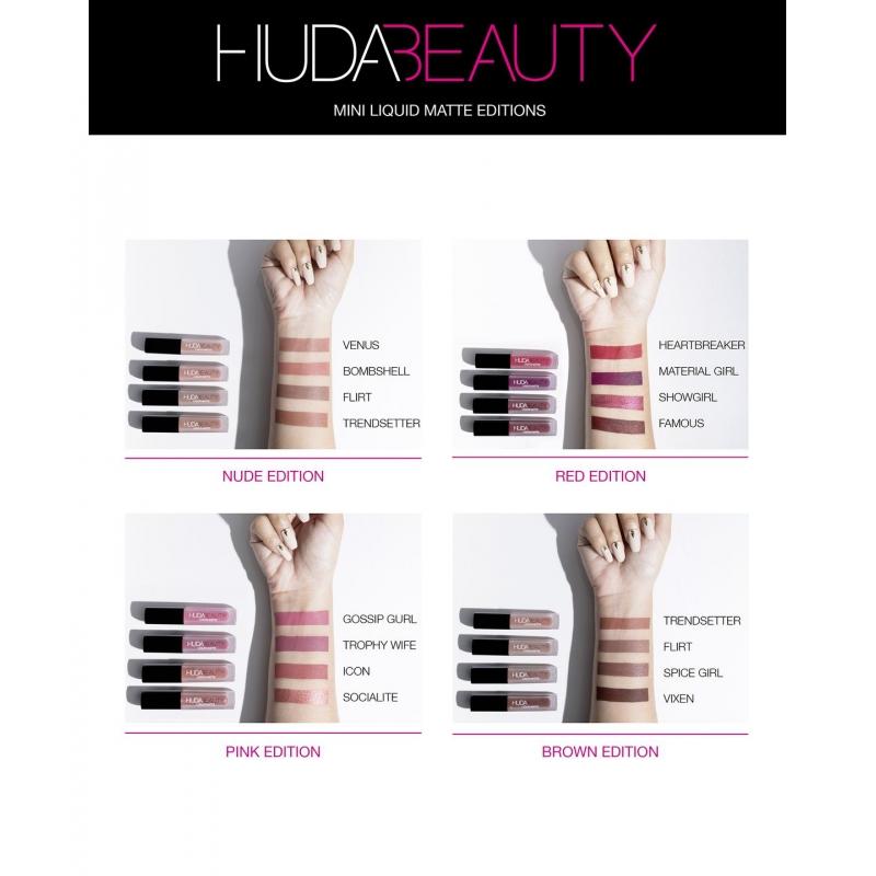 Zestaw Pomadek Do Ust Huda Beauty Liquid Matte Minis