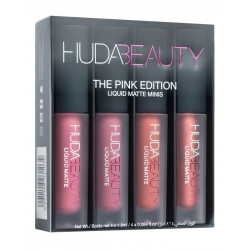 Zestaw pomadek do ust Huda Beauty - Liquid Matte Minis -The Pink Edition