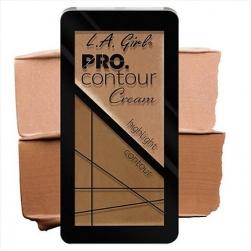Zestaw do konturowania - L.A.Girl - PRO Contour Cream  Highlighter/Bronzer