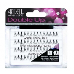 Kępki rzęs Ardell - Double Up  Individual Naturals - Knot Free Medium Black