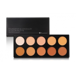 Zestaw pędzli - BH Cosmetics - Foundation & Concealer Palette 1 Light/Medium
