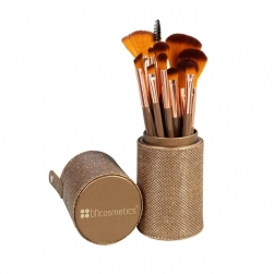 Zestaw pędzli - BH Cosmetics - Shimmering Bronze - 12 Piece Brush Set