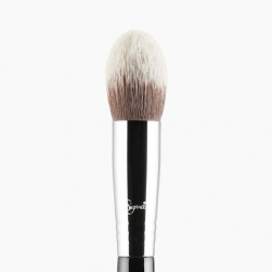 Pędzel do cieni - Sigma Beauty - E38 Diffused Crease™ Brush - chrome