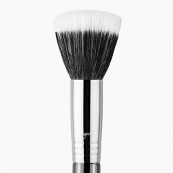 Pędzel do pudru/różu  - Sigma Beauty - F10 Powder/Blush Brush - chrome