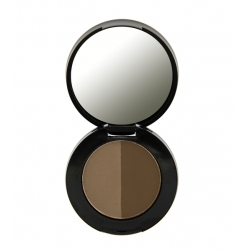 Puder do brwi - Freedom Makeup - Duo Eyebrow Powder - Dark Brown