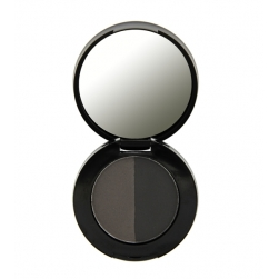 Cień do brwi - Freedom Makeup - Duo Eyebrow Powder -  Granite