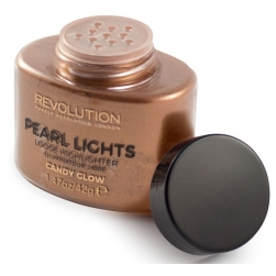 Rozświetlacz do twarzy - Makeup Revolution - Pearl Lights Loose Highlighter - Candy Glow